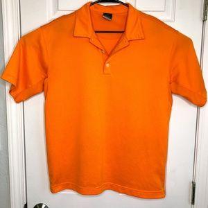 Nike Mens Size Large Orange Sphere Polo Golf Shirt
